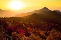 長野県 志賀高原 のぞきからの夕焼け