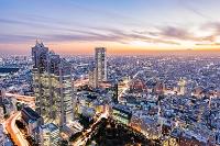 東京都 新宿ビル群と富士山のマジックアワー