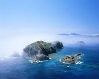 母島 鰹鳥島と海霧