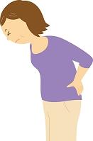 腰痛に悩む中高年女性