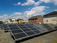 埼玉県 住宅街の太陽光発電施設