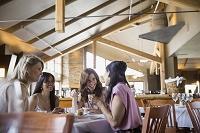 レストランで談話する女性のグループ