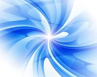 白と青の曲線 CG