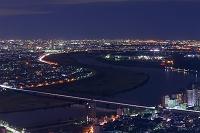 千葉県 市川市から江戸川と東京方面望む