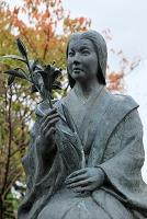 京都府 勝龍寺城 細川ガラシャ像