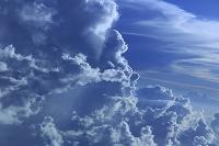 沖縄県 飛行機から見る積乱雲