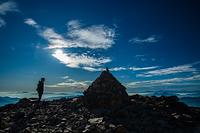 富士見岳山頂の登山者