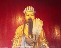 中国・成都 武侯祠 諸葛孔明の像