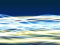 しなやかに横流れするデータ光線群