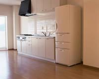 システムキッチンと冷蔵庫