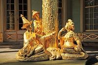 ドイツ ポツダムの公園と宮殿 中国人の茶室
