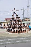 運動会 6年生 組体操