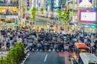 東京都 渋谷センター街の夜景