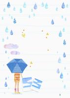 イラスト 梅雨の雨