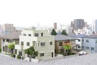 都心の住宅地模型