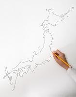 日本地図を描く