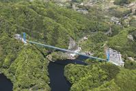 茨城県 常陸太田市 竜神大吊橋の空撮