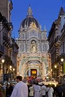 イタリア シチリア クリスマスイルミネーション