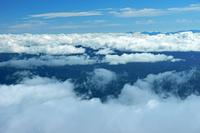 長野県 九合目の御嶽山からの雲海