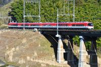 奈良県 近畿日本鉄道 鉄橋を渡る23000系特急伊勢志摩ライナー