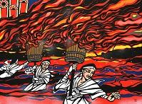 那智の火祭り (切り絵)