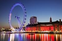 イギリス ロンドン・アイとカウンティ・ホール
