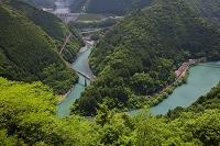 静岡県 川根本町 新緑と大井川鉄道井川線の電車