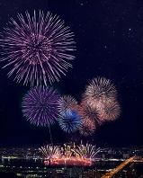 大阪、淀川の花火大会