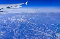 機中より雪山 成田~フランクフルト LH-0711