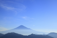 静岡県 静岡市 清水吉原 富士山と山並み