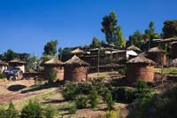 エチオピア ラリベラの伝統的な家