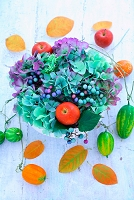 秋の花飾り