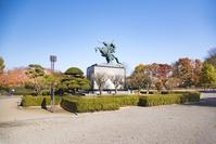 山形県 秋の最上義光騎馬像