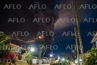 マニラ近郊で火山が噴火