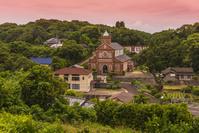 長崎県 黒島天主堂と集落