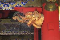 栃木県 日光東照宮 表門の木鼻彫刻