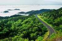 北海道 雲海と知床峠