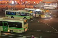 大阪府 バス乗り場の俯瞰 ジオラマ