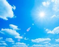 青空と光のイメージ