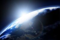 光と地球 CG
