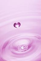 ハートの水滴