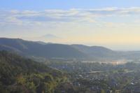 京都府 嵯峨野の集落と比叡山