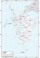 九州地方 白地図