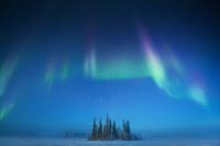 カナダ 霧のビーレイク 夜明け