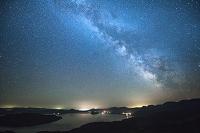 北海道 屈斜路湖と天の川