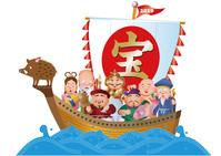 亥年の七福神と宝船