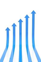 上昇する5本の矢印 CG