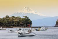 静岡県 戸田港と富士山