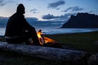 ノルウェー ロフォーテン諸島 焚き火