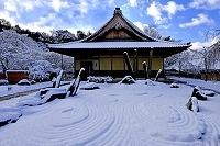 京都府 圓光寺 雪景色